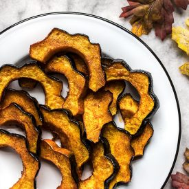 Smoky Maple Roasted Acorn Squash