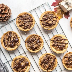 Mini Dark Chocolate Pecan Pies