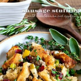 Stuffing Recipe with Sausage Cranberries and Apples