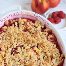 Easy Raspberry Peach Crumble