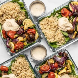 Roasted Vegetable Salad Meal Prep