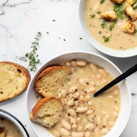 Easy Rosemary Garlic White Bean Soup