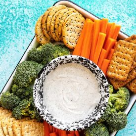 Garlic Herb Whipped Cottage Cheese Dip