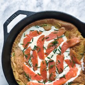 Dutch Baby with Smoked Salmon