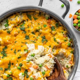 Creamy Chicken and Rice Skillet