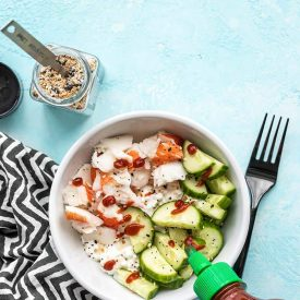 Cottage Cheese Crab Bowl