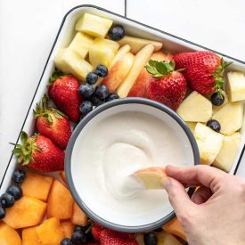 Honey Vanilla Cottage Cheese Fruit Dip
