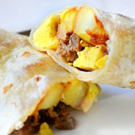 Easy Breakfast Burritos (Freezer Friendly!)