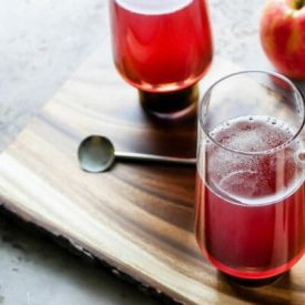 Pomegranate Mimosa with Hard Cider