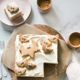 Brown Butter Mini Sheet Cake with Maple Frosting