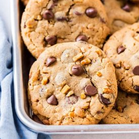 Loaded Peanut Butter Chocolate Chip Cookies