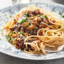 Roasted Cauliflower and Mushroom Bolognese