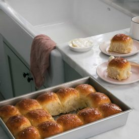 Salted Honey Parker House Rolls