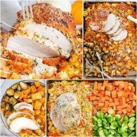 Roast Turkey Breast Dinner – Sheet Pan Thanksgiving Dinner
